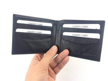 Pánské kožená slim peněženka Onfire Černá